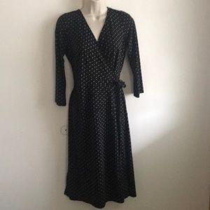 Loft polka dot wrap dress NWT size 10